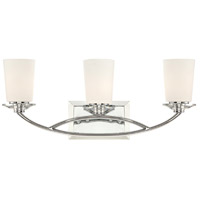 Palatial 3 Light 23 inch Chrome Bath Bar Wall Light