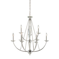 Palatial 9 Light 32 inch Chrome Chandelier Ceiling Light