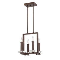 Designers Fountain Fieldhouse 1 Light Chandelier in Flemish Bronze 84384-FBZ