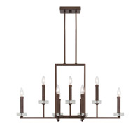 Fieldhouse 9 Light 36 inch Flemish Bronze Chandelier Ceiling Light