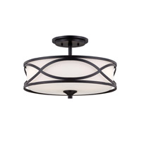 Designers Fountain Bellemeade 3 Light Semi-Flush in Artisan 84411-ART