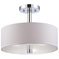 Cordova 3 Light 120 Chrome Semi-Flush Ceiling Light