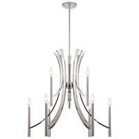 Cordova 9 Light 27 inch Chrome Chandelier Ceiling Light
