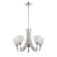 Designers Fountain Cortona 5 Light Chandelier in Chrome 84685-CH