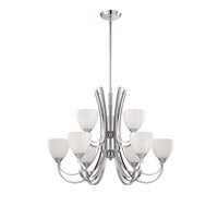 Designers Fountain Cortona 9 Light Chandelier in Chrome 84689-CH