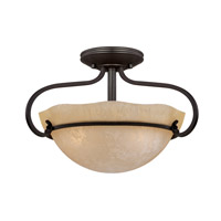 Designers Fountain Lauderhill 3 Light Semi-Flush in Natural Iron 84711-NI