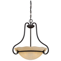 Designers Fountain 84731-NI Lauderhill 3 Light 120 Natural Iron Pendant Ceiling Light