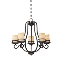 Designers Fountain Lauderhill 5 Light Chandelier in Natural Iron 84785-NI