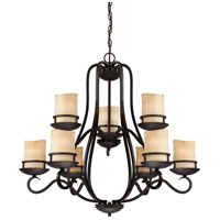 Designers Fountain Lauderhill 9 Light Chandelier in Natural Iron 84789-NI