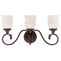 Helena 3 Light 23 inch Burnt Umber Bath Bar Wall Light