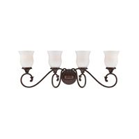 Designers Fountain Helena 4 Light Bath Bar in Burnt Umber 84804-BU