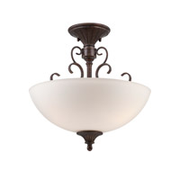 Designers Fountain Helena 3 Light Semi-Flush in Burnt Umber 84811-BU
