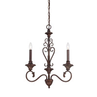 Helena 3 Light 20 inch Burnt Umber Chandelier Ceiling Light