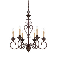 Helena 6 Light 28 inch Burnt Umber Chandelier Ceiling Light
