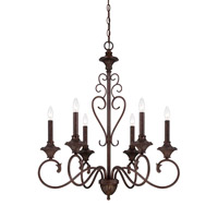 Designers Fountain Helena 6 Light Chandelier in Burnt Umber 84886-BU