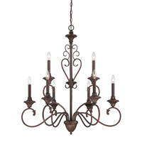 Helena 9 Light 33 inch Burnt Umber Chandelier Ceiling Light