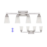 Designers Fountain Trenton 4 Light Bath Bar in Satin Nickel 84904-SN alternative photo thumbnail