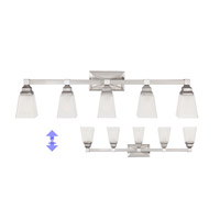 Designers Fountain 84905-SN Trenton 5 Light 38 inch Satin Nickel Bath Bar Wall Light thumb