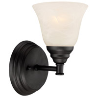 Kendall 1 Light 5 inch Oil Rubbed Bronze Wall Sconce Wall Light in Frosted