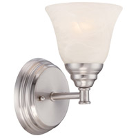 Designers Fountain Kendall 1 Light Wall Sconce in Satin Platinum 85101-SP
