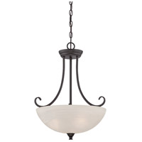 Kendall 3 Light 120 Oil Rubbed Bronze Pendant Ceiling Light in Frosted