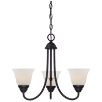 Kendall 3 Light 20 inch Oil Rubbed Bronze Chandelier Ceiling Light in Frosted