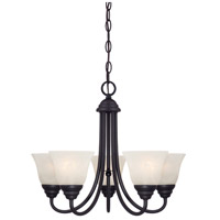 Designers Fountain 85185-ORB Kendall 5 Light 20 inch Oil Rubbed Bronze Chandelier Ceiling Light in Frosted