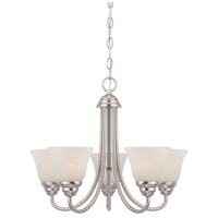 Kendall 5 Light 20 inch Satin Platinum Chandelier Ceiling Light in Alabaster