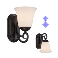 Designers Fountain 85201-ORB Addison 1 Light 6 inch Oil Rubbed Bronze Wall Sconce Wall Light