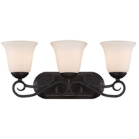 Addison 3 Light 22 inch Oil Rubbed Bronze Bath Bar Wall Light