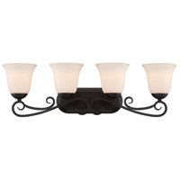Designers Fountain Addison 4 Light Bath Bar in Oil Rubbed Bronze 85204-ORB