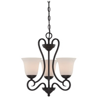 Designers Fountain 85283-ORB Addison 3 Light 17 inch Oil Rubbed Bronze Chandelier Ceiling Light