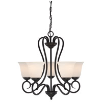 Designers Fountain Addison 5 Light Chandelier in Oil Rubbed Bronze 85285-ORB