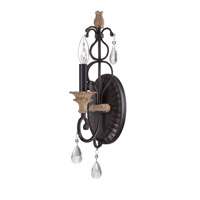 Designers Fountain Bella Maison 1 Light Wall Sconce in Distressed Ash 85301-DA