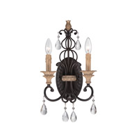 Designers Fountain Bella Maison 2 Light Wall Sconce in Distressed Ash 85302-DA