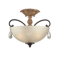 Designers Fountain Bella Maison 3 Light Semi-Flush in Distressed Ash 85311-DA