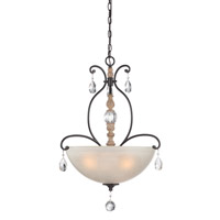 Designers Fountain Bella Maison 3 Light Inverted Pendant in Distressed Ash 85331-DA
