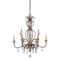 Designers Fountain Bella Maison 9 Light Chandelier in Distressed Ash 85389-DA