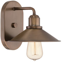 Designers Fountain Newbury Station 1 Light Wall Sconce in Old Satin Brass 85401-OSB