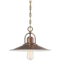 Designers Fountain Newbury Station 1 Light Down Pendant in Old Satin Brass 85432-OSB
