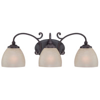 Tangier 3 Light 24 inch Natural Iron Bath Bar Wall Light