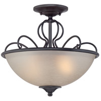 Tangier 2 Light 120 Natural Iron Semi-Flush Ceiling Light