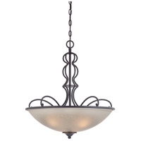 Designers Fountain Tangier 3 Light Inverted Pendant in Natural Iron 85531-NI