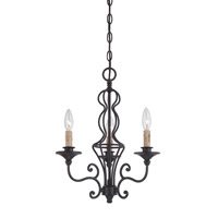 Tangier 3 Light 16 inch Natural Iron Chandelier Ceiling Light