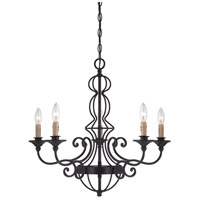 Designers Fountain Tangier 5 Light Chandelier in Natural Iron 85585-NI