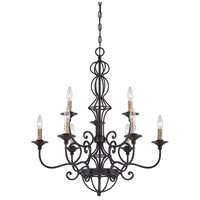 Designers Fountain Tangier 9 Light Chandelier in Natural Iron 85589-NI