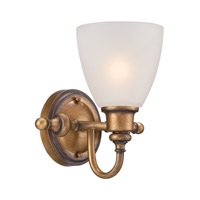 Designers Fountain Isla 1 Light Wall Sconce in Aged Brass 85601-ABS