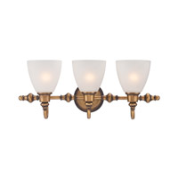 Designers Fountain Isla 3 Light Bath Bar in Aged Brass 85603-ABS