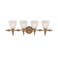 Designers Fountain Isla 4 Light Bath Bar in Aged Brass 85604-ABS