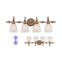 Isla 4 Light 30 inch Aged Brass Bath Bar Wall Light